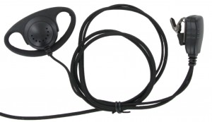 XLT DR110B D-Ring Earpiece with Lapel PTT Microphone (Braided Cable)