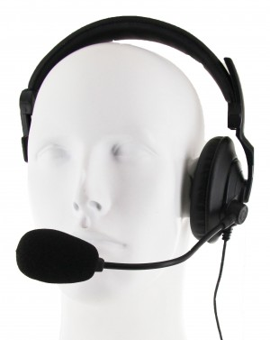 XLT Medium Duty Lightweight Headset w/ PTT and Boom Microphone