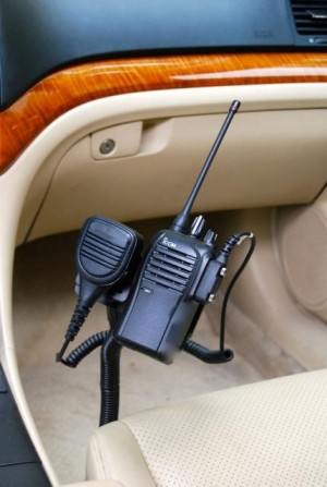 Lido Radio LM-300-EXT Seat Bolt Mount With Mic Holder For Mobile and Portable Two Way Radios
