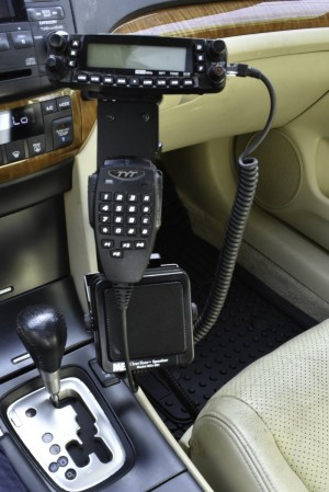 Lido Radio LM-300-23 Gooseneck Style Seat Rail Mount With Microphone and Speaker Holder for Two Way Radios