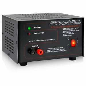 Pyramid PS12KX Bench Power Supply AC-to-DC Power Converter with Car/Vehicle Power Outlet (10 Amp)