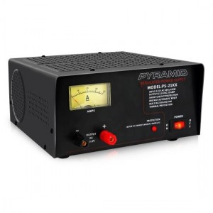 Pyramid PS21KX Bench Power Supply AC-to-DC Power Converter with Amperage Gauge Display (18 Amp)