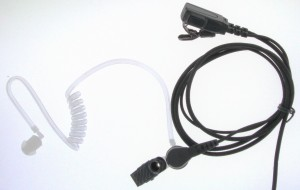 XLT SE110B Surveillance Earpiece with PTT Microphone (Braided Cable)