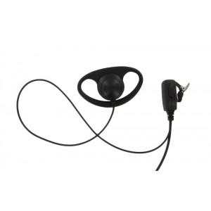 XLT DR110 D-Ring Earpiece with Lapel PTT Microphone