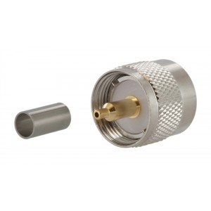 Tram UHF Male 2-piece Crimp Connector For RG-58/U