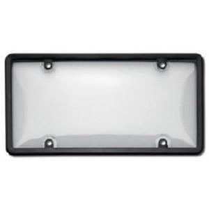 Black Plastic Plate Frame w/ Cover - 60510