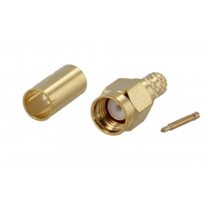 Tram SMA Male Gold Crimp Connector For RG-58/U