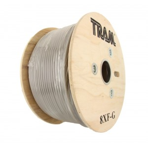 Tram RG-8X Double Shield Coaxial Cable (500 ft./Gray Jacket)