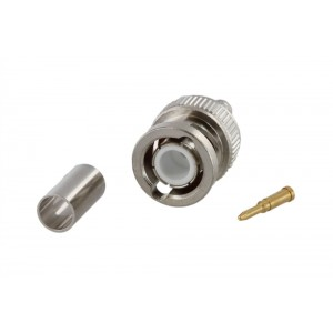 Tram BNC Male Crimp Connector For RG-58/U