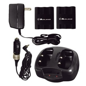 Midland AVP-6 Dual Desktop Charger with Batteries