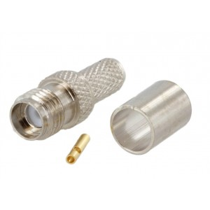 SMA Female Connector For RG-58 Coax