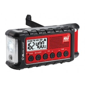 Midland ER310 Emergency Hand Crank Radio w/ Flashlight