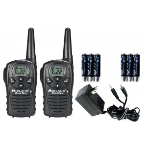Midland LXT118VP Two Way Radios With Dual AC Wall Charger