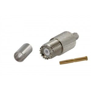 Tram Mini-UHF Female Crimp Connector For RG-58/U
