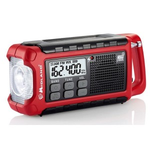 Midland ER210 Compact Emergency Hand Crank Radio w/ Flashlight