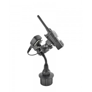 Lido Radio LM-801-MIC Cup Holder Mount With Mic Hanger For Handheld Amateur Radios