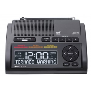 Midland WR400 Deluxe NOAA Weather Radio w/Alarm Clock