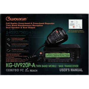 Wouxun KG-UV920P-A User Manual