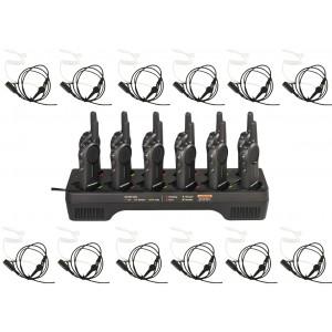 Motorola DLR1060 Radio Twelve Pack + Multi-Charger + Surveillance Earpieces