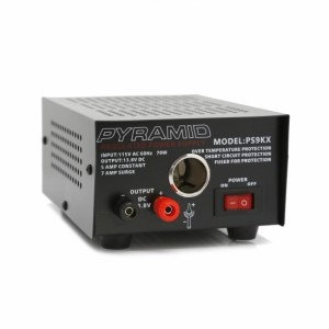 Pyramid PS9KX Bench Power Supply AC-to-DC Power Converter with Car/Vehicle Power Outlet (5 Amp)