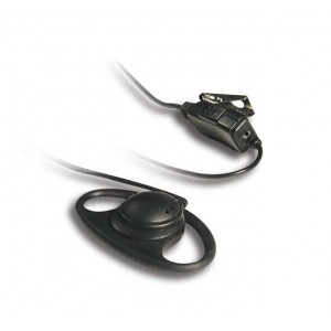 Kenwood KHS-27 D-Ring Earpiece and Boom Mic With PTT Switch