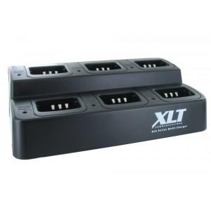 XLT 6-Unit Multi-Charger For Kenwood KNB-45L (TK2400/TK3400 Series)